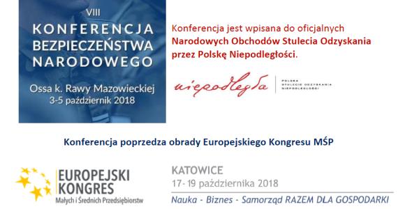 Zapraszamy na Konferencję Bezpieczeństwa Narodowego i Europejski Kongres MŚP