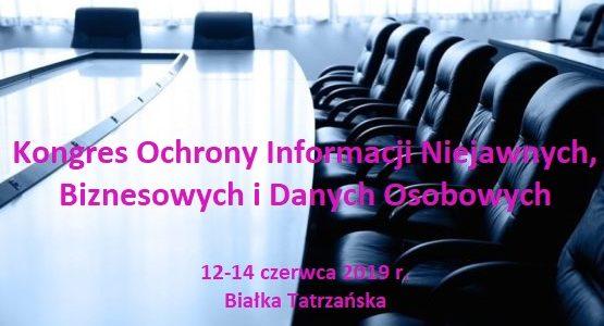 Kongres Kongres Ochrony Informacji Niejawnych, Biznesowych i Danych Osobowych